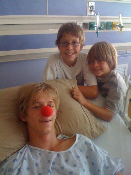 They put a clown nose on me hoping it would brighten my mood. Not even joking.