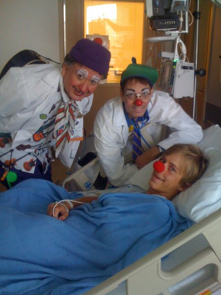 Can you see the joy on my face? Clowns are obviously the best medicine.