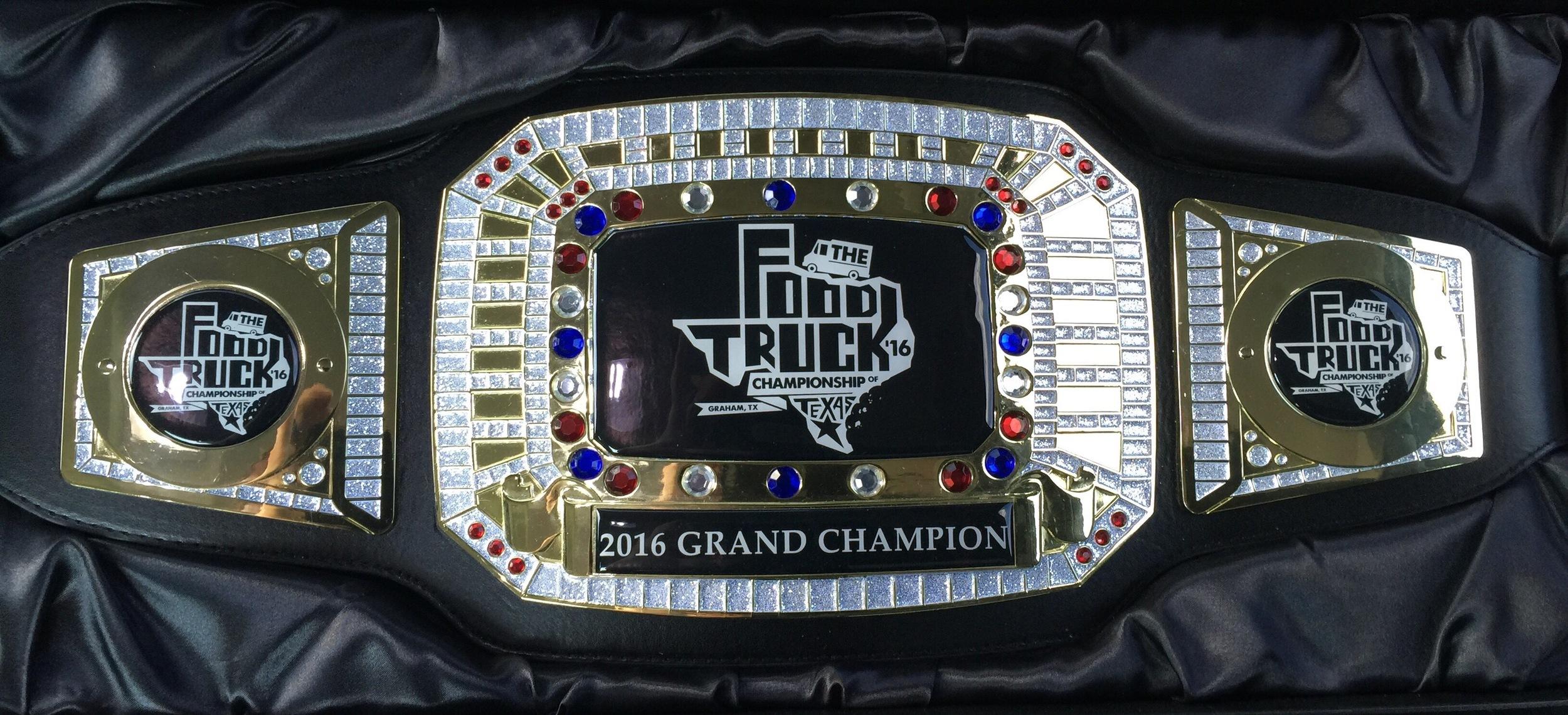 2016 Grand Champion Belt