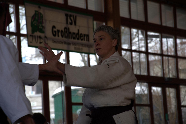Unsere Trainerin Gudrun beim Jos Lehrgang 2015