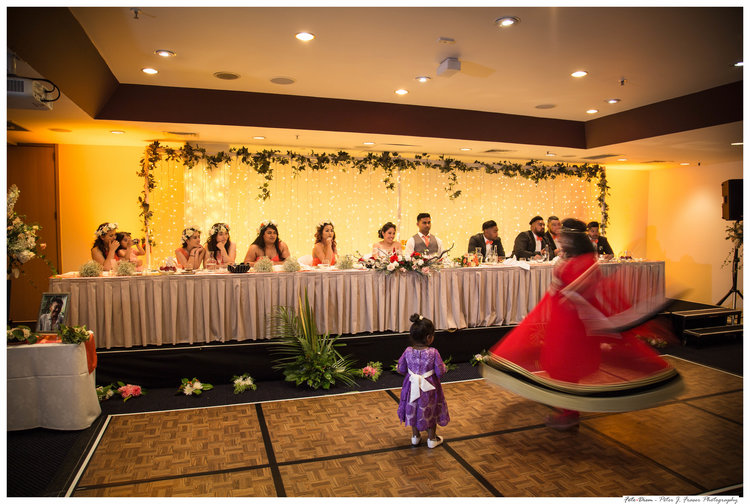 Bridal party at reception watching traditional indian dancer.jpg