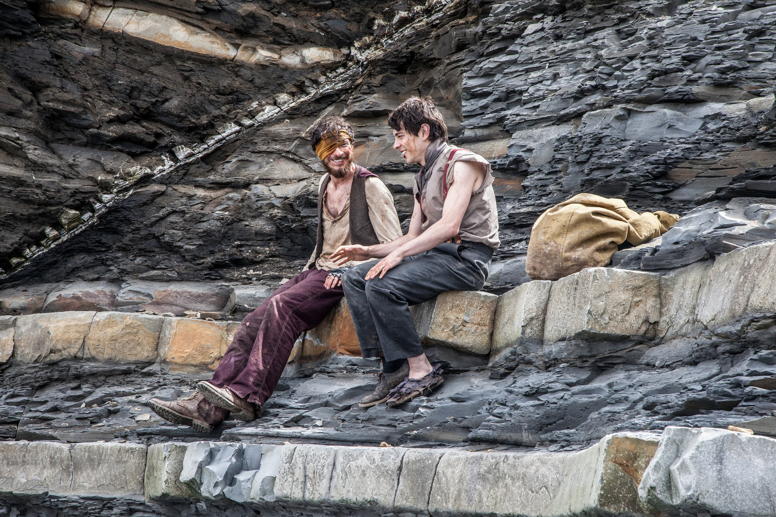 DSR - Joe Newton ('Clay') and Jerome Thompson ('Nugget') have some downtime between setups on a cliff face-12.jpg