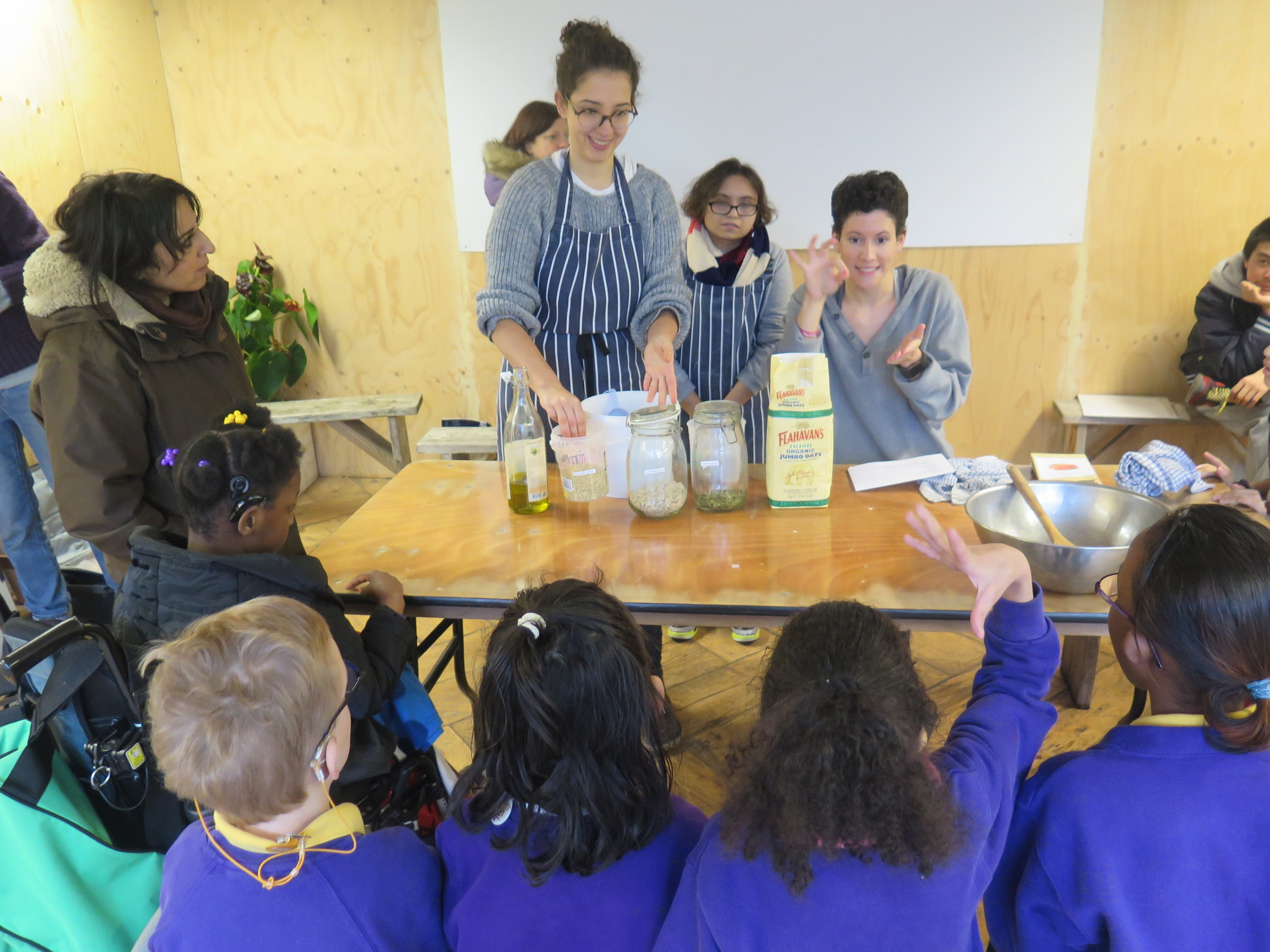 Lunch and Learning session with pupils from Frank Barnes School