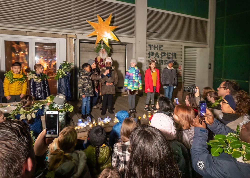 Group of local primary school children during our Winter Solstice celebration performing their poetry.