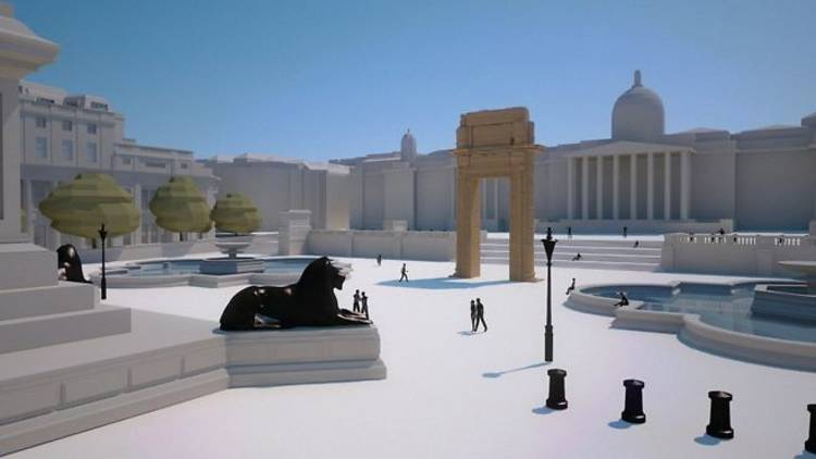 An impression of the upcoming installation at Trafalgar Square