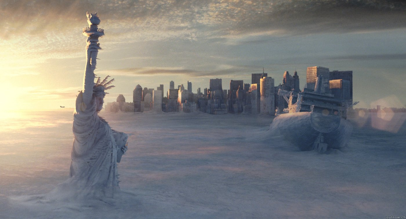 A scene from Roland Emmerich's 'The Day After Tomorrow'