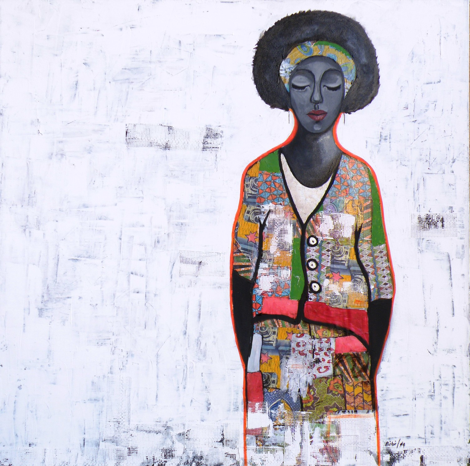 BIBI | NIGERIA    BIBI IS AN AUTODIDACT WHOSE WORK IS INFORMED BY HER LIFE AND TRAVELS. SHE EMPLOYS A COMBINATION OF DIFFERENT STYLES, MEDIA AND PROCESSES FOR EACH ARTWORK, DEPENDING ...   READ MORE