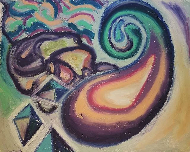 Future Spaced  #drawing #oilpastel#glasgowartist #artistofinstagram #postanalog #painting #art #fineart #artwork #contemporaryart #kunst #dreams #memories #memes #studio #oilpainting #deepdream #collaboration #collage #canvas #artist