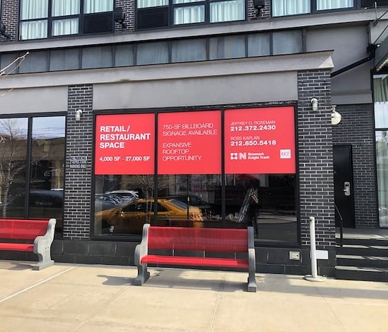 Unique Visuals - Large Format Printing - Real Estate Window Sign - Newmark Knight Frank
