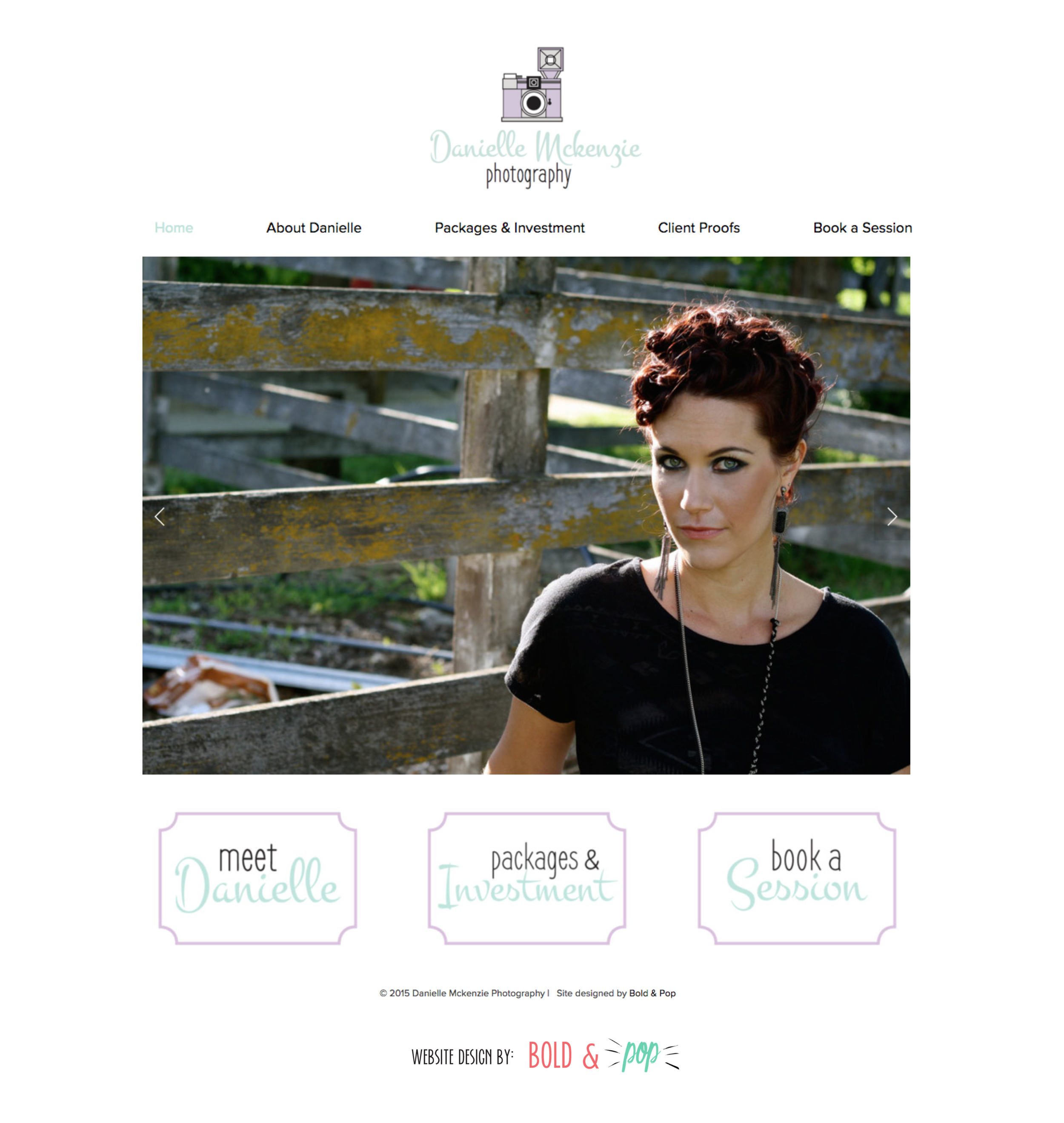 Bold & Pop : Danielle Mckenzie Photography Branding & Website Design