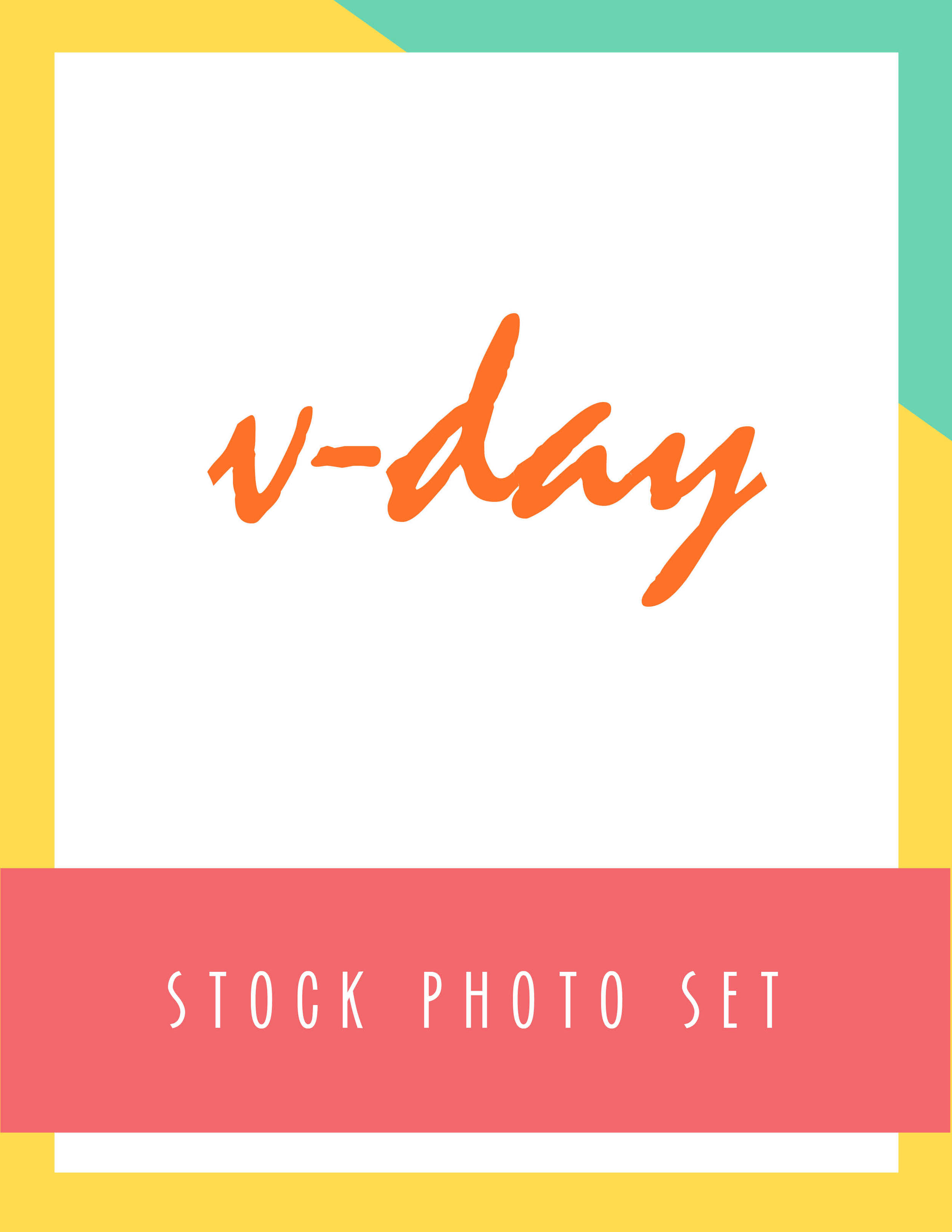 Bold & Pop V-day Stock Photo Set