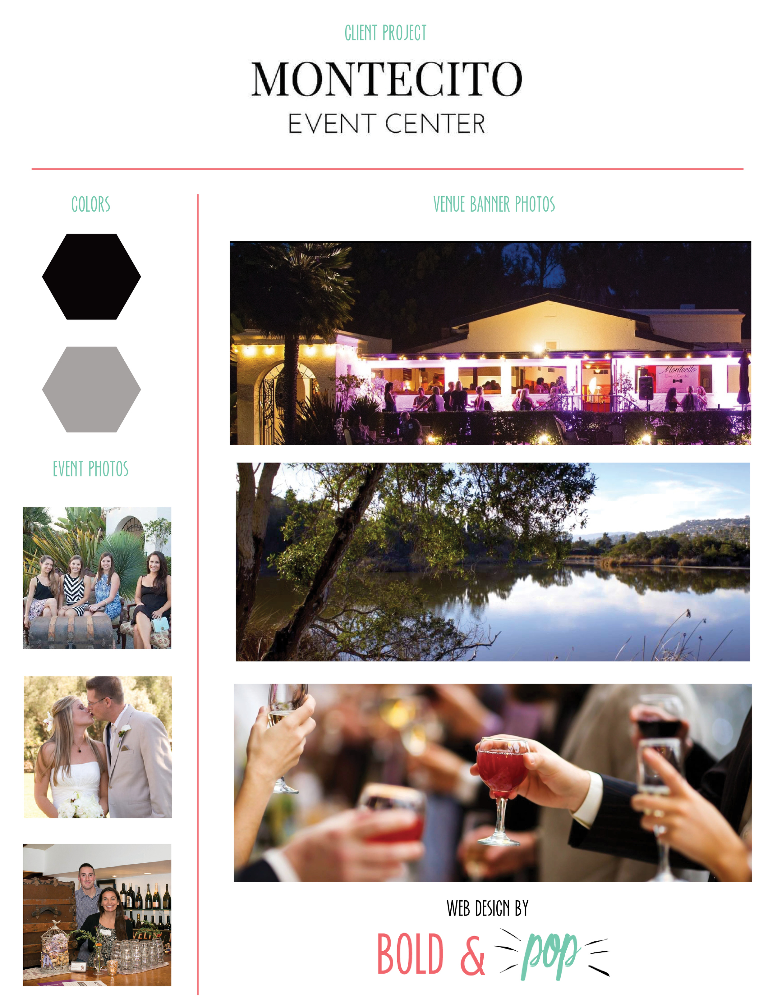Bold & Pop : Montecito Event Center Website Refresh