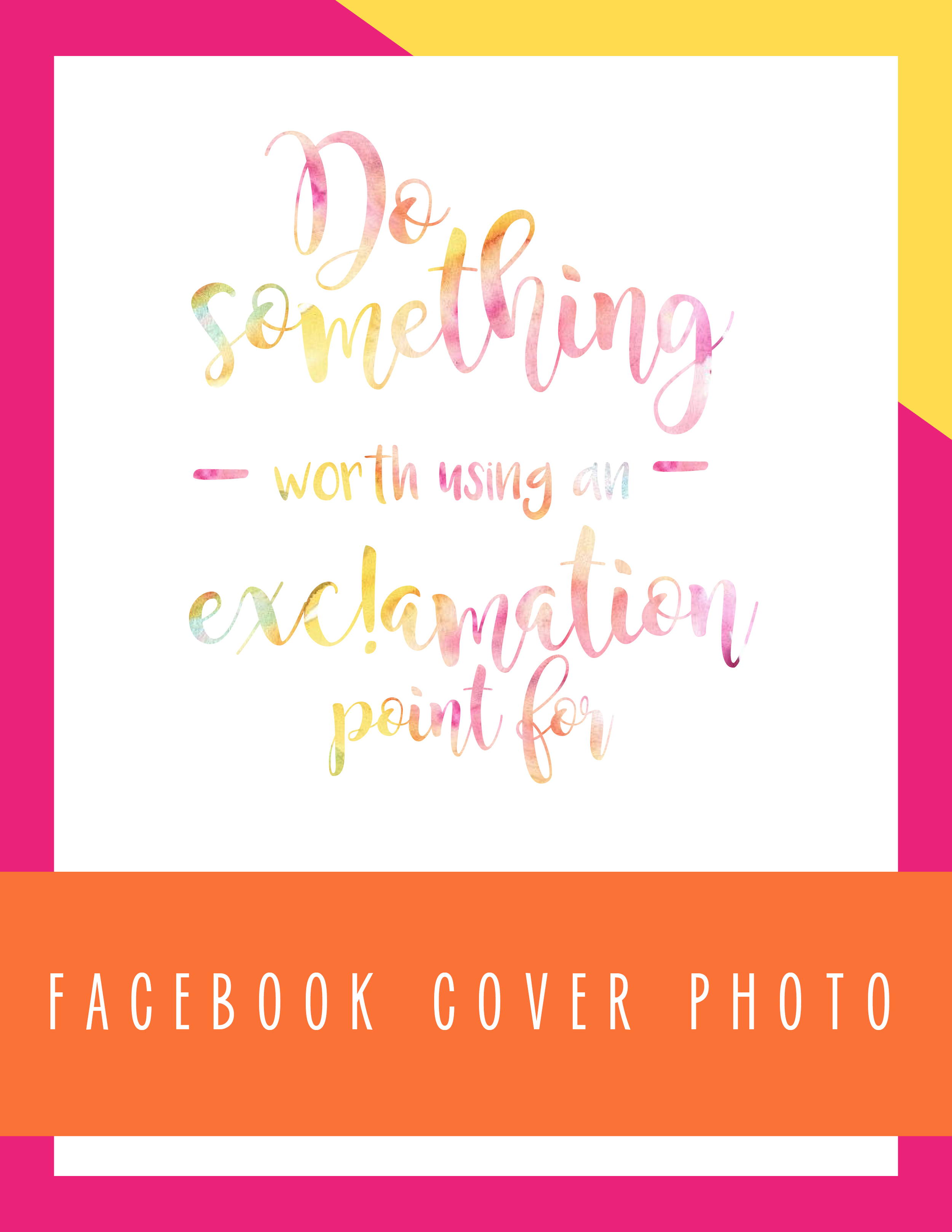 Bold & Pop: So Something Worth Using an Exclamation Point for 8x10 Facebook Cover Photo
