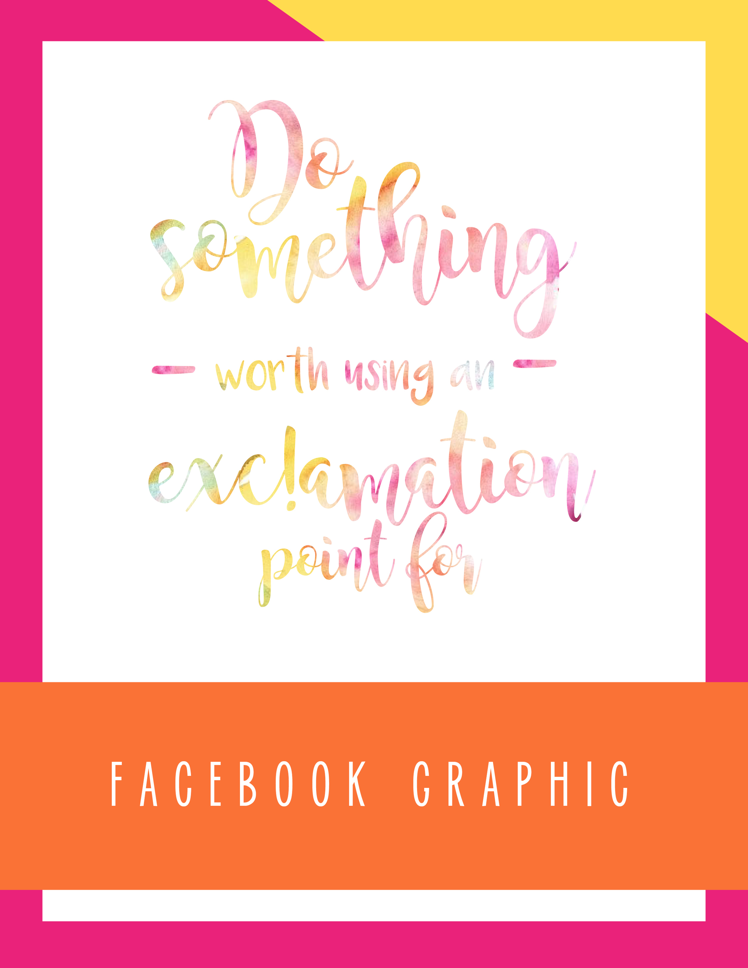 Bold & Pop: So Something Worth Using an Exclamation Point for Facebook Graphic