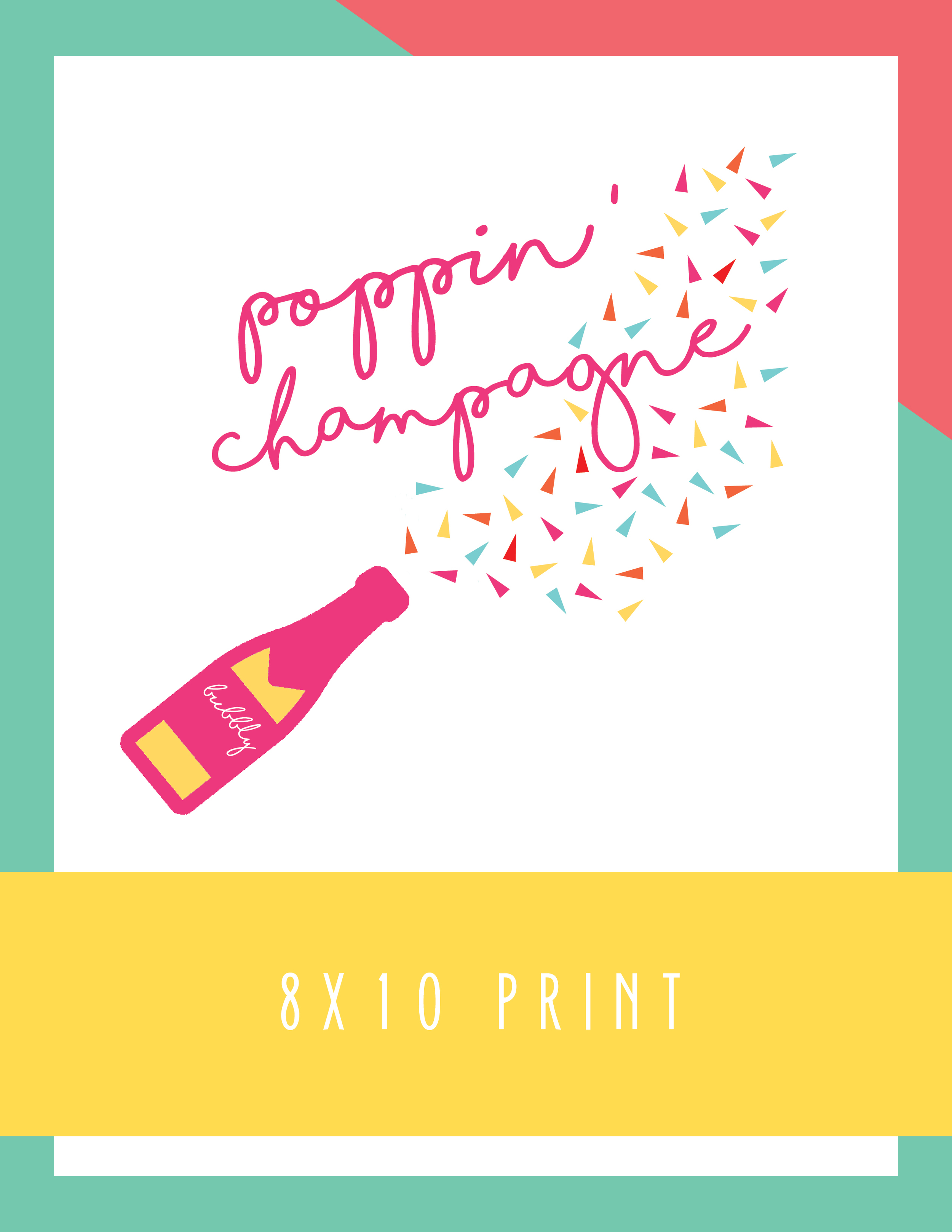 Bold & Pop Freebies Poppin' Champagne Print