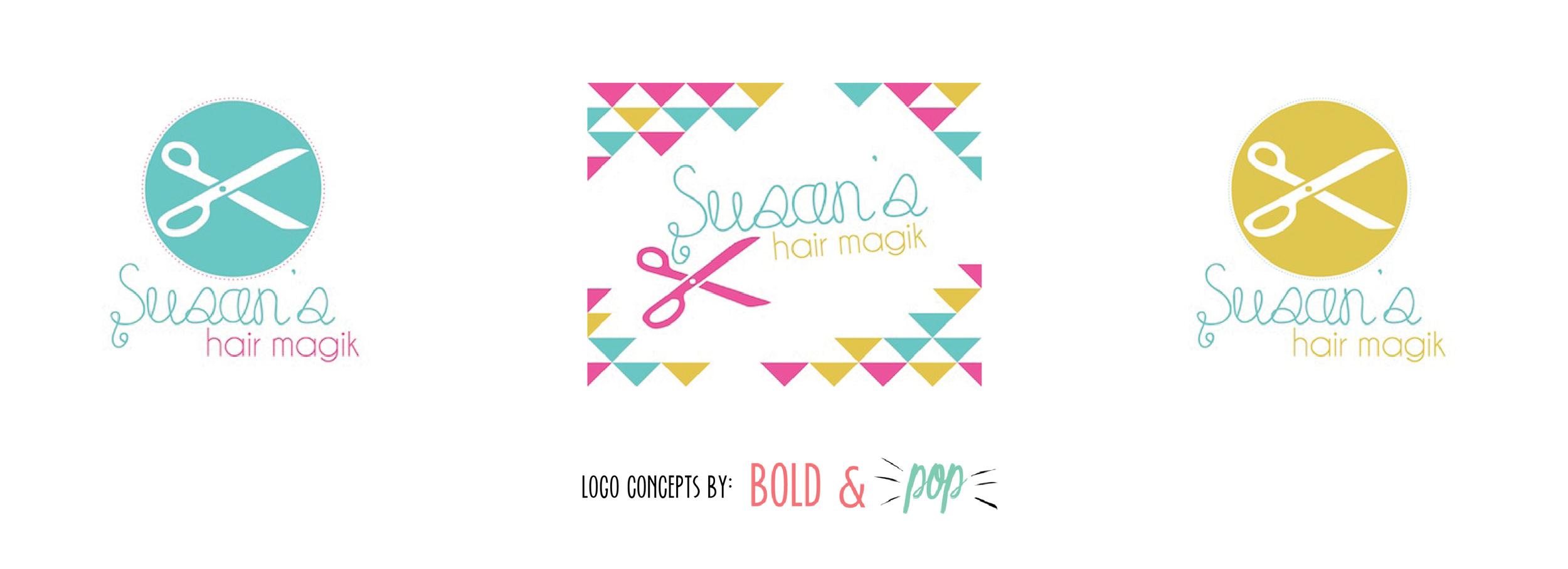 Bold & Pop : Susan's Hair Magik Branding Project