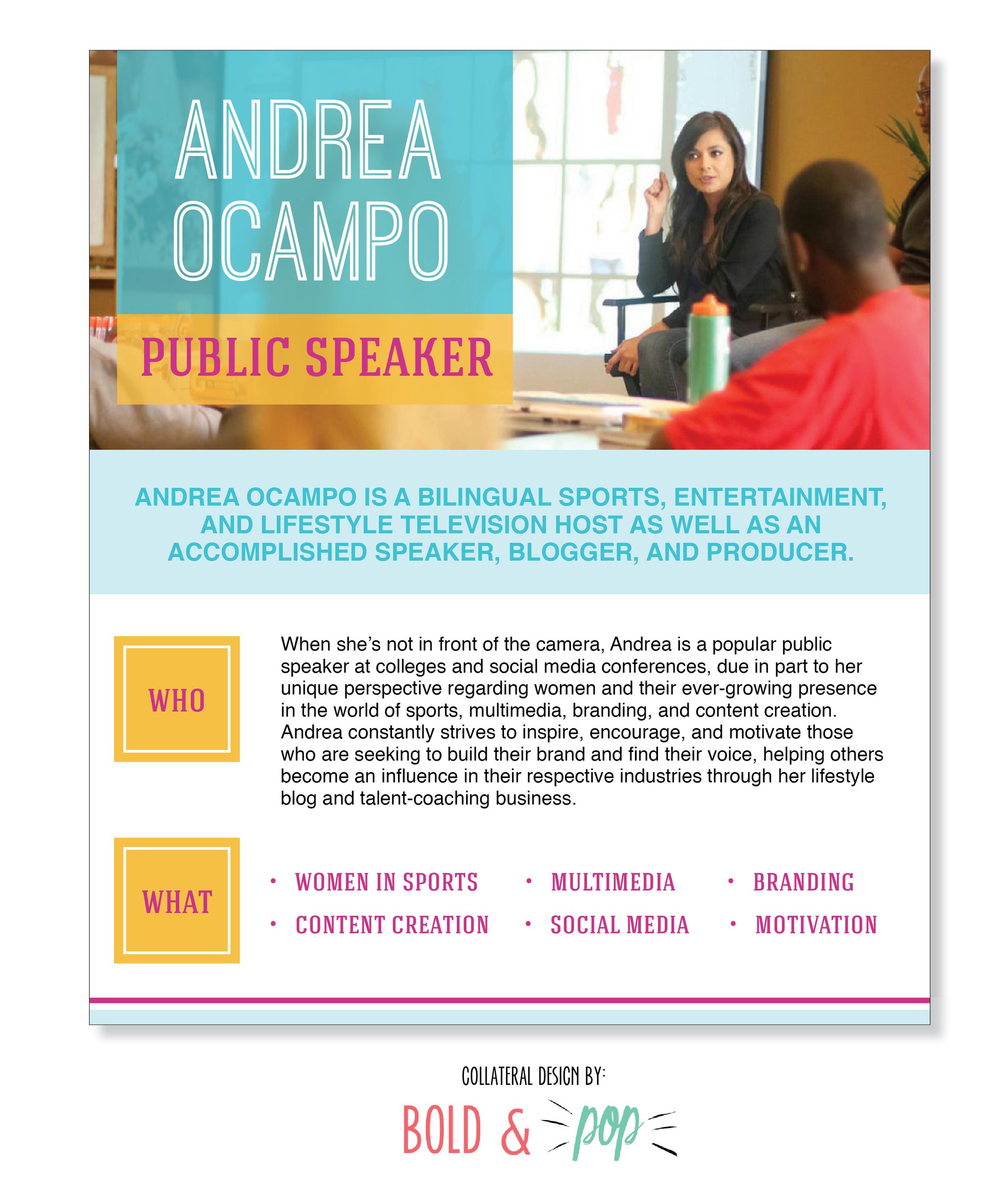 Bold & Pop :: Andrea Ocampo Collateral Project