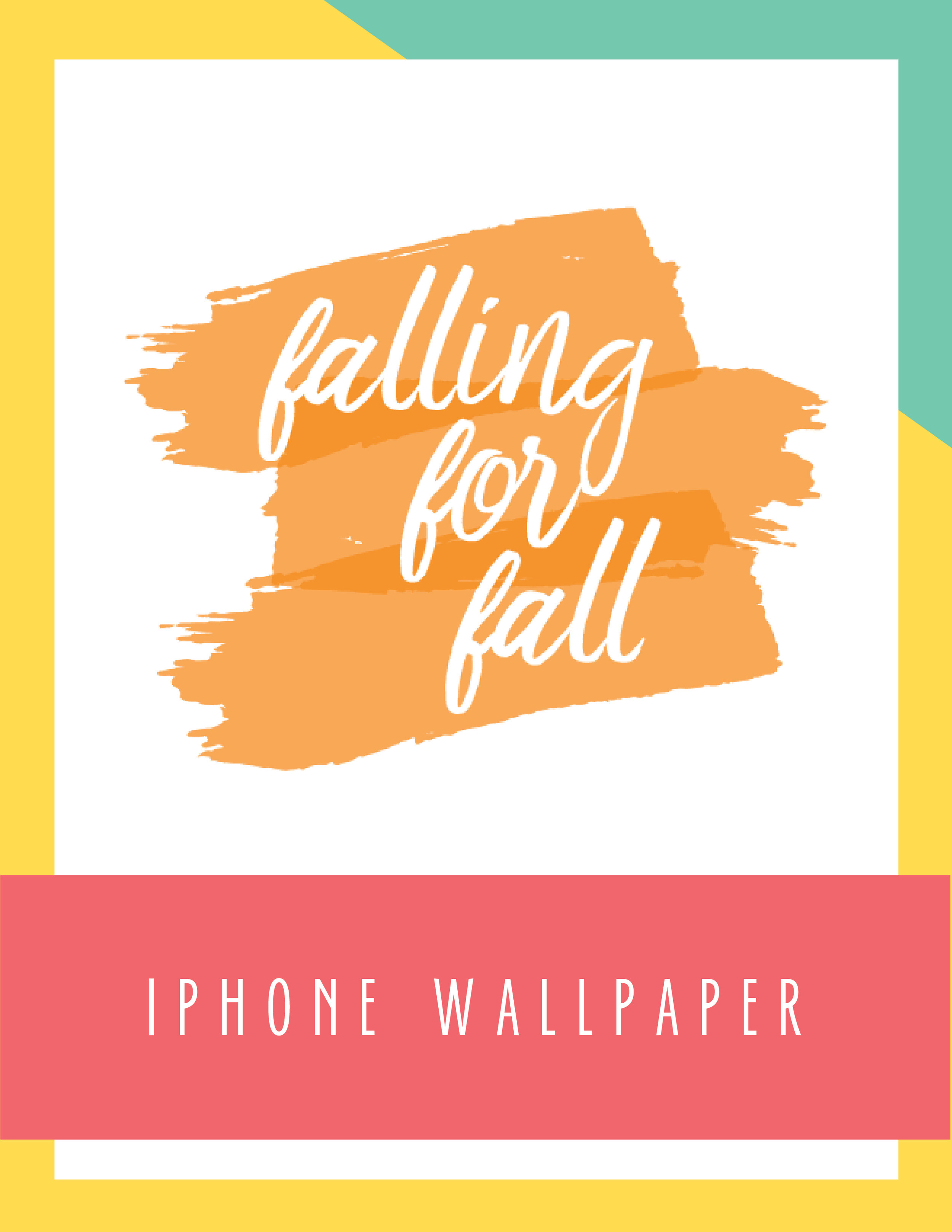 Bold & Pop Falling for Fall iPhone Wallpaper