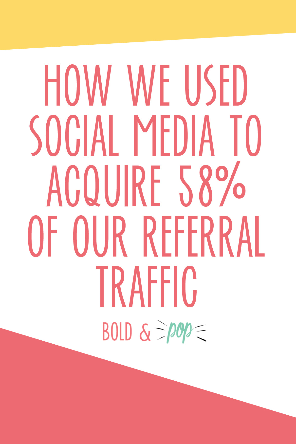 Bold & Pop : How We Used Social Media to Acquire 58% of our Referral Traffic