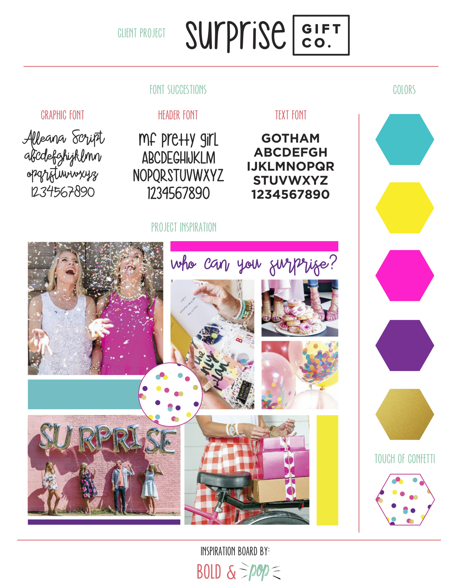 Bold & Pop : Surprise Gift Co. Squarespace Website Refresh