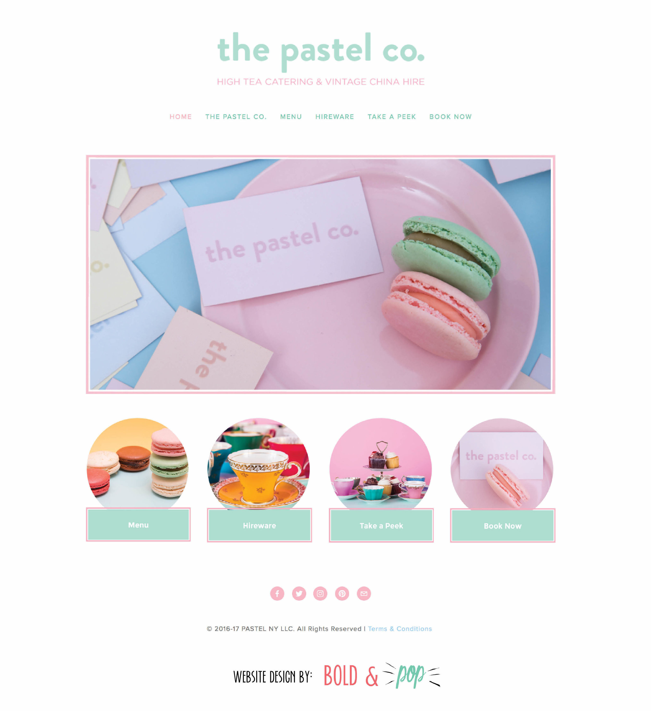 Bold & Pop : The Pastel Co. Squarespace Website Refresh
