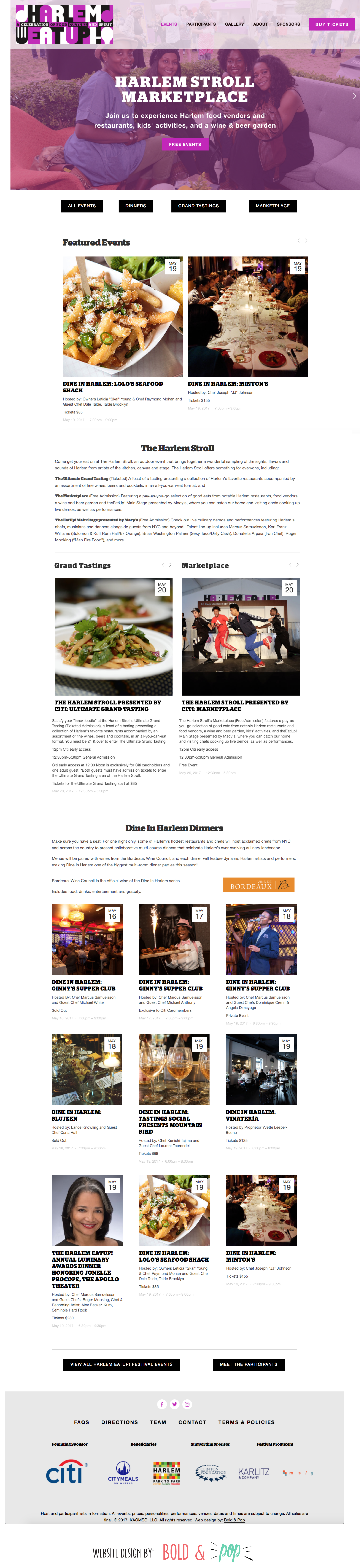 Bold & Pop : Harlem EatUp! Squarespace Website Design