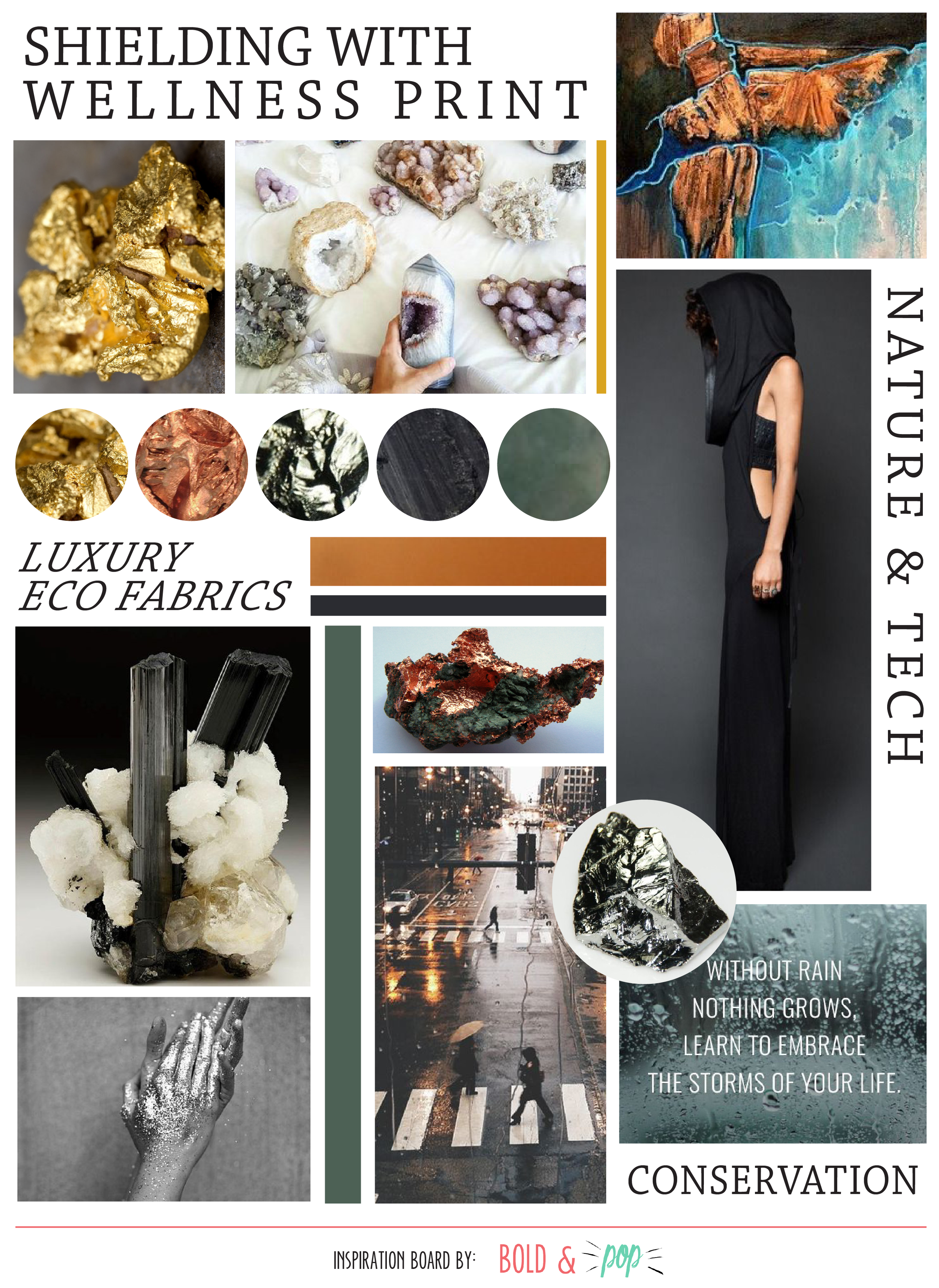 Bold & Pop : LA Lifestyle Brand Mood Board Design