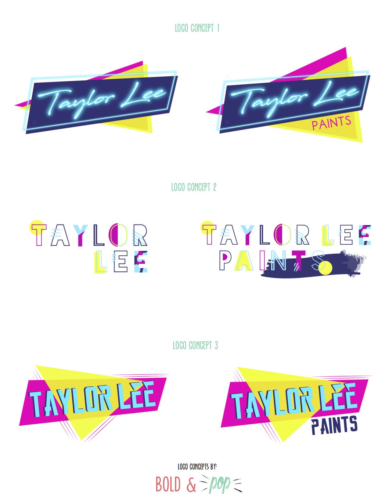 Bold & Pop : Taylor Lee Paints Branding & Website Design