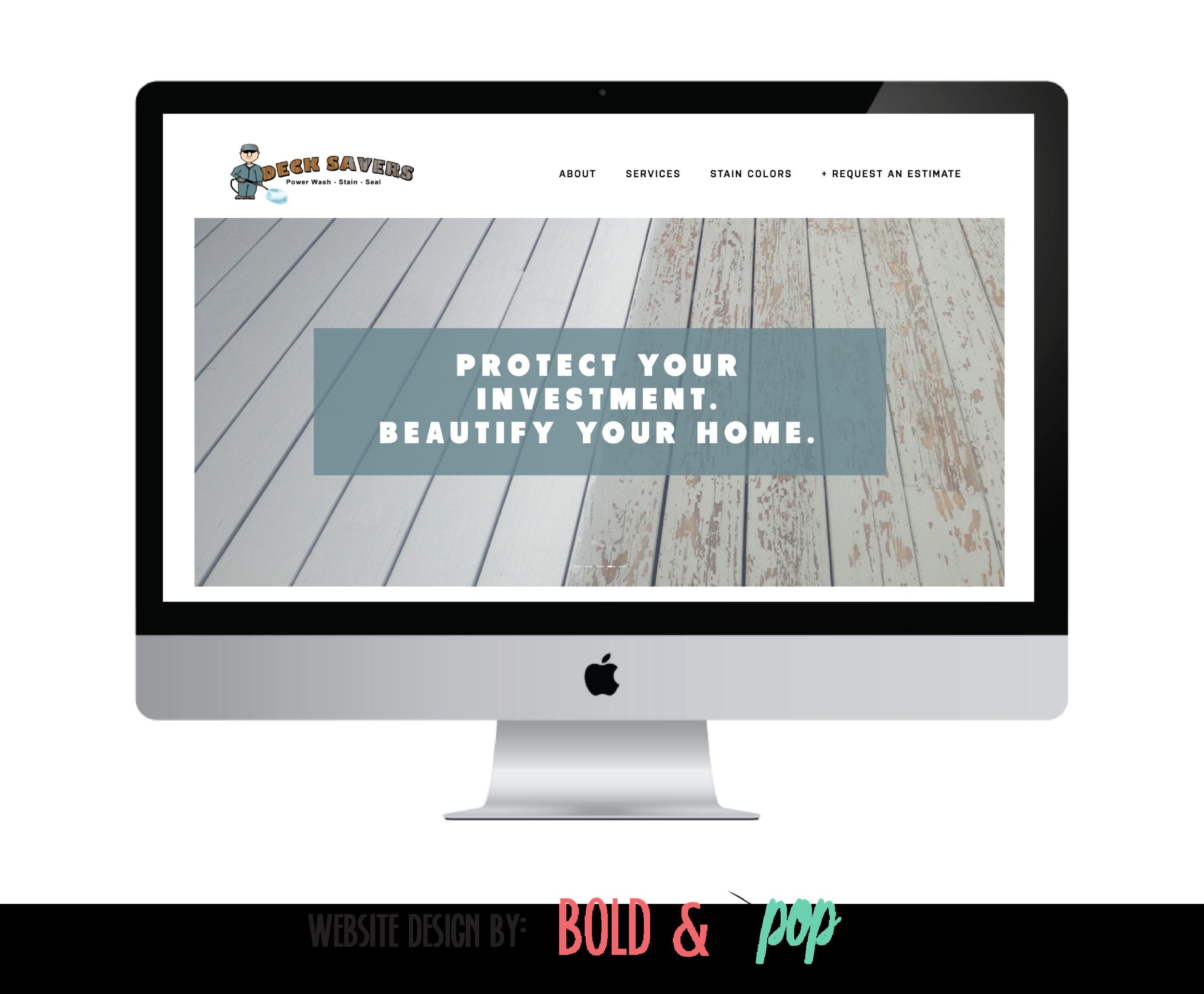 Bold & Pop : Deck Savers Squarespace Website Design