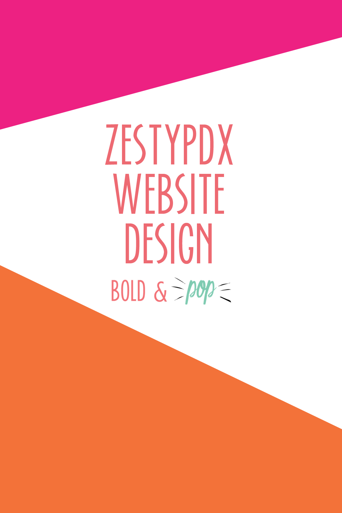 Bold & Pop : ZestyPDX Portland Food Tours Squarespace Website Design