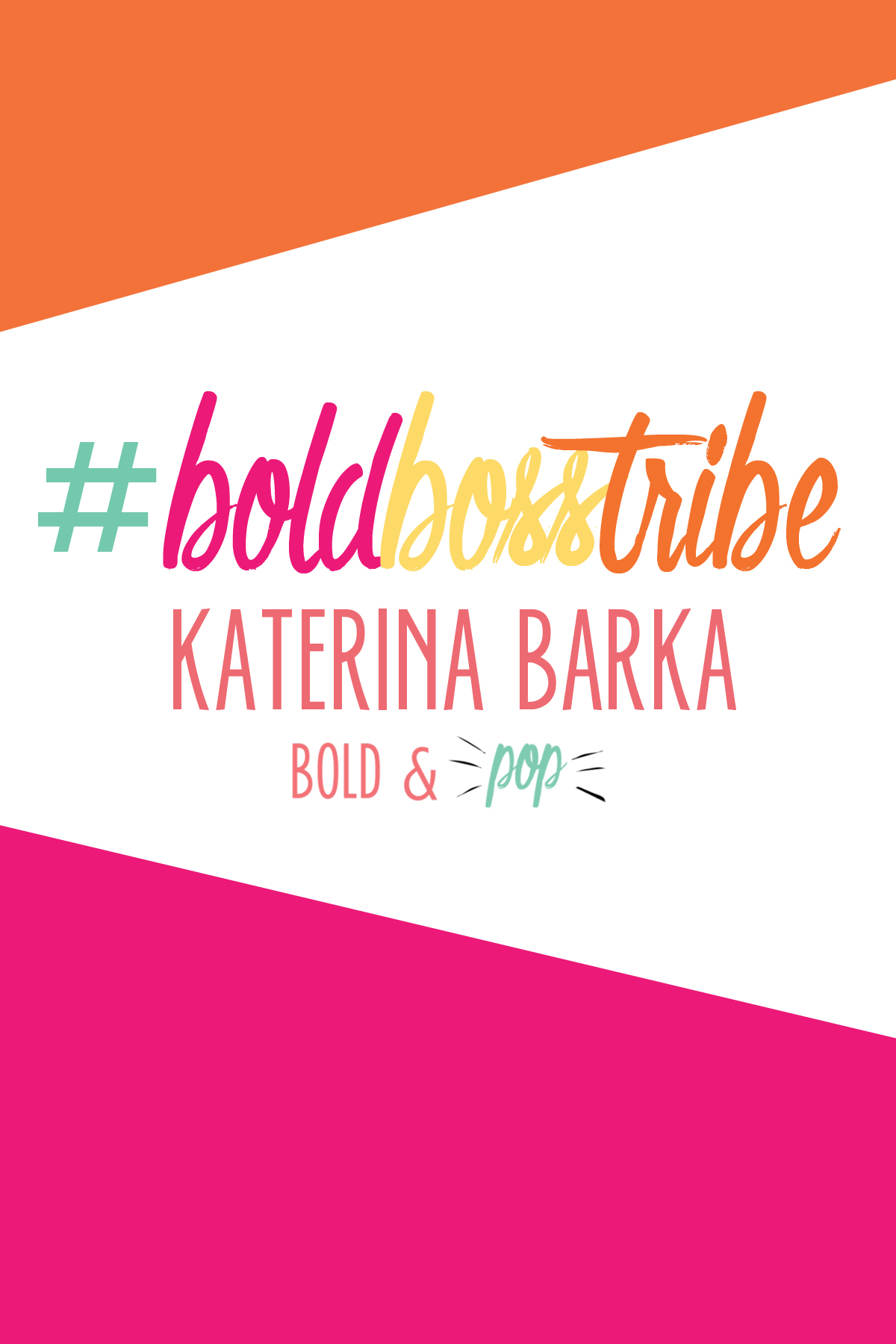Bold & Pop : #BoldBossTribe Feature with Katerina Barka Founder of Olive Roots