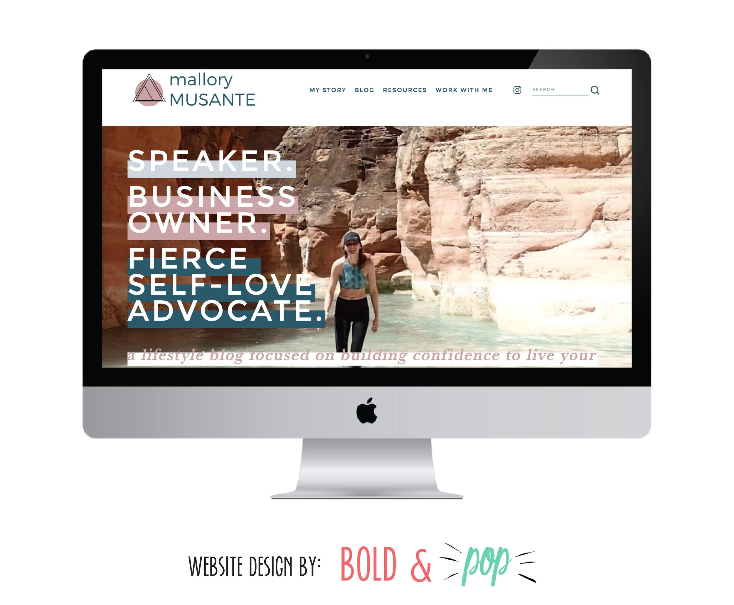 Bold & Pop : Mallory Musante Branding & Squarespace Website Design