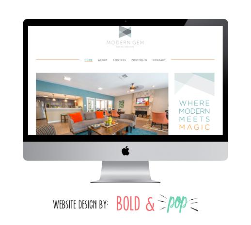 Bold & Pop : Modern Gem Design Website Design