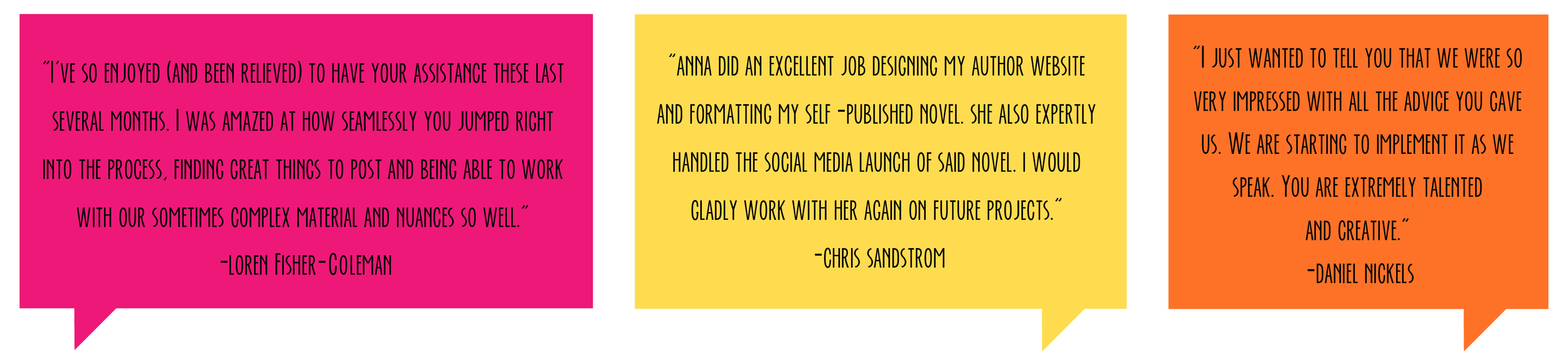 Bold & Pop : Branding and Squarespace Design agency -- Client Testimonials