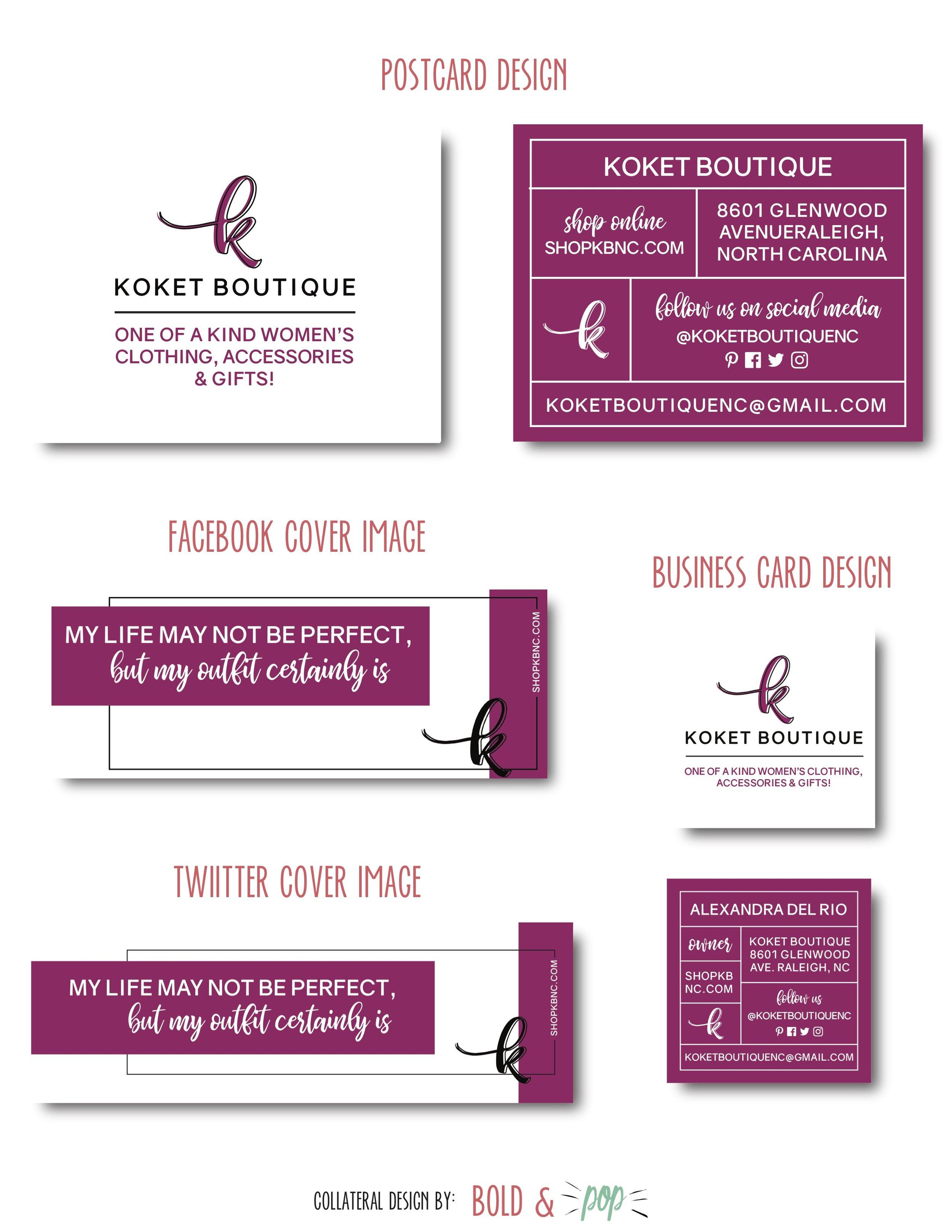Bold & Pop : Koket Boutique Branding & Squarespace Ecommerce Website Design