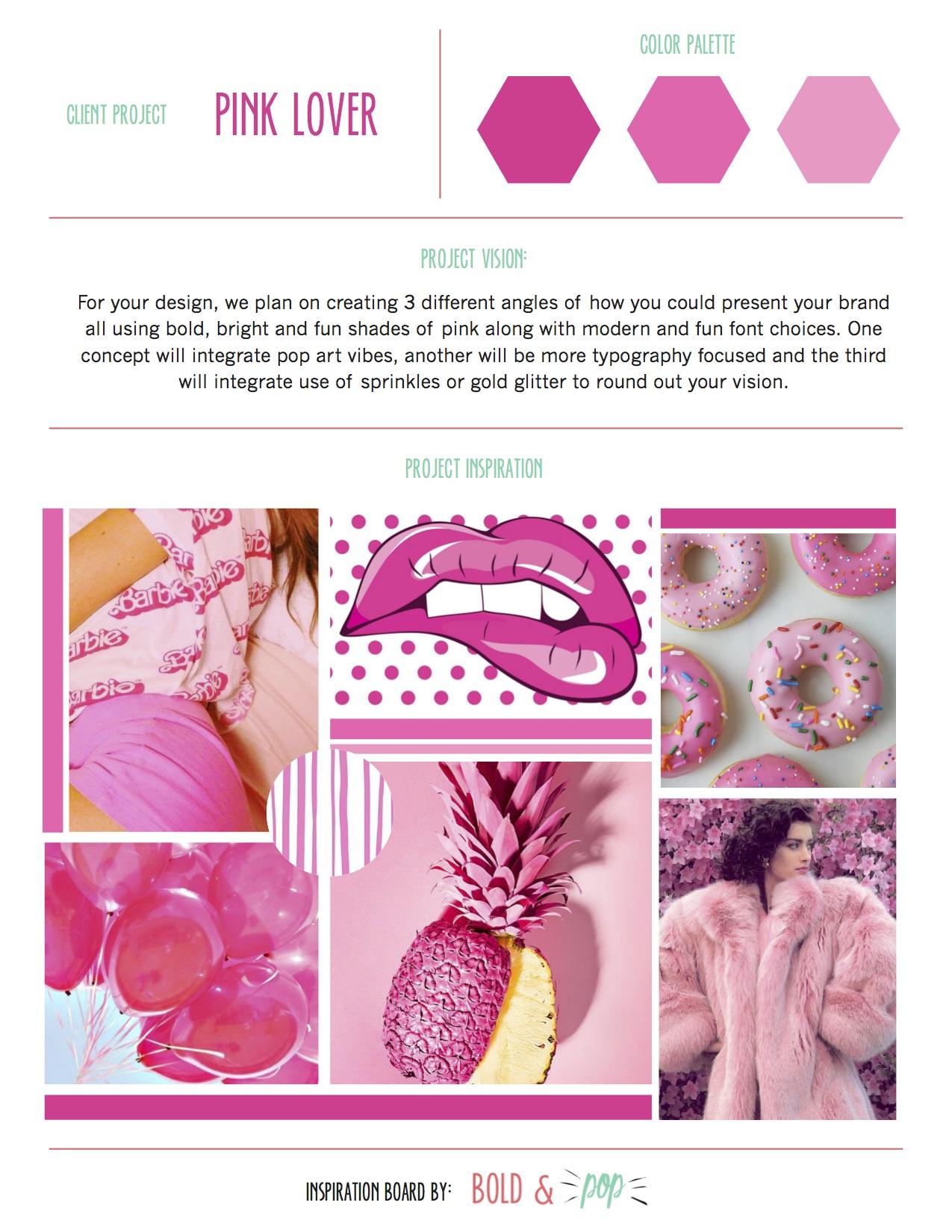 Bold & Pop : Pink Lovers Branding Design