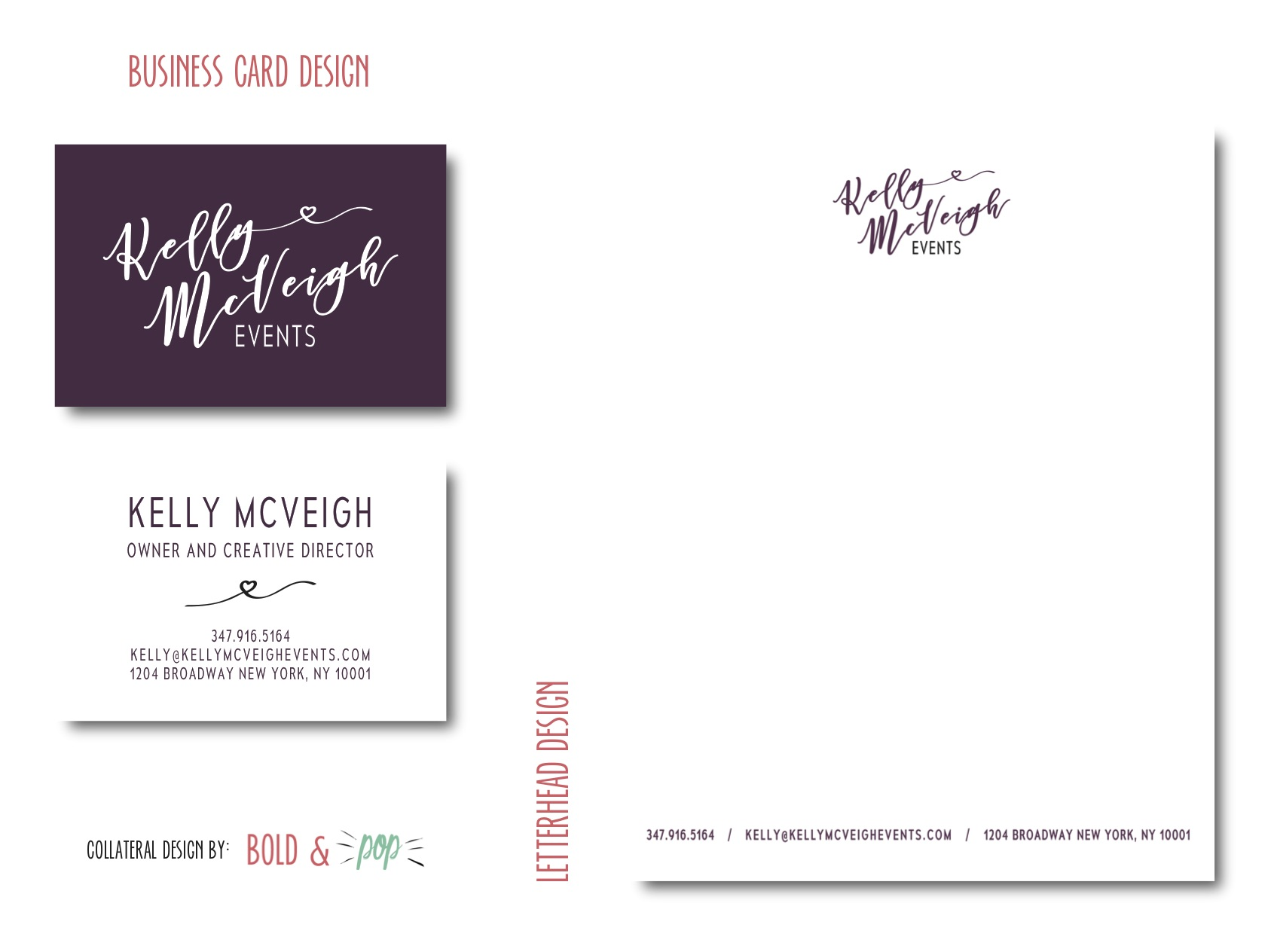 Bold & Pop : Kelly McVeigh Logo and Collateral Design