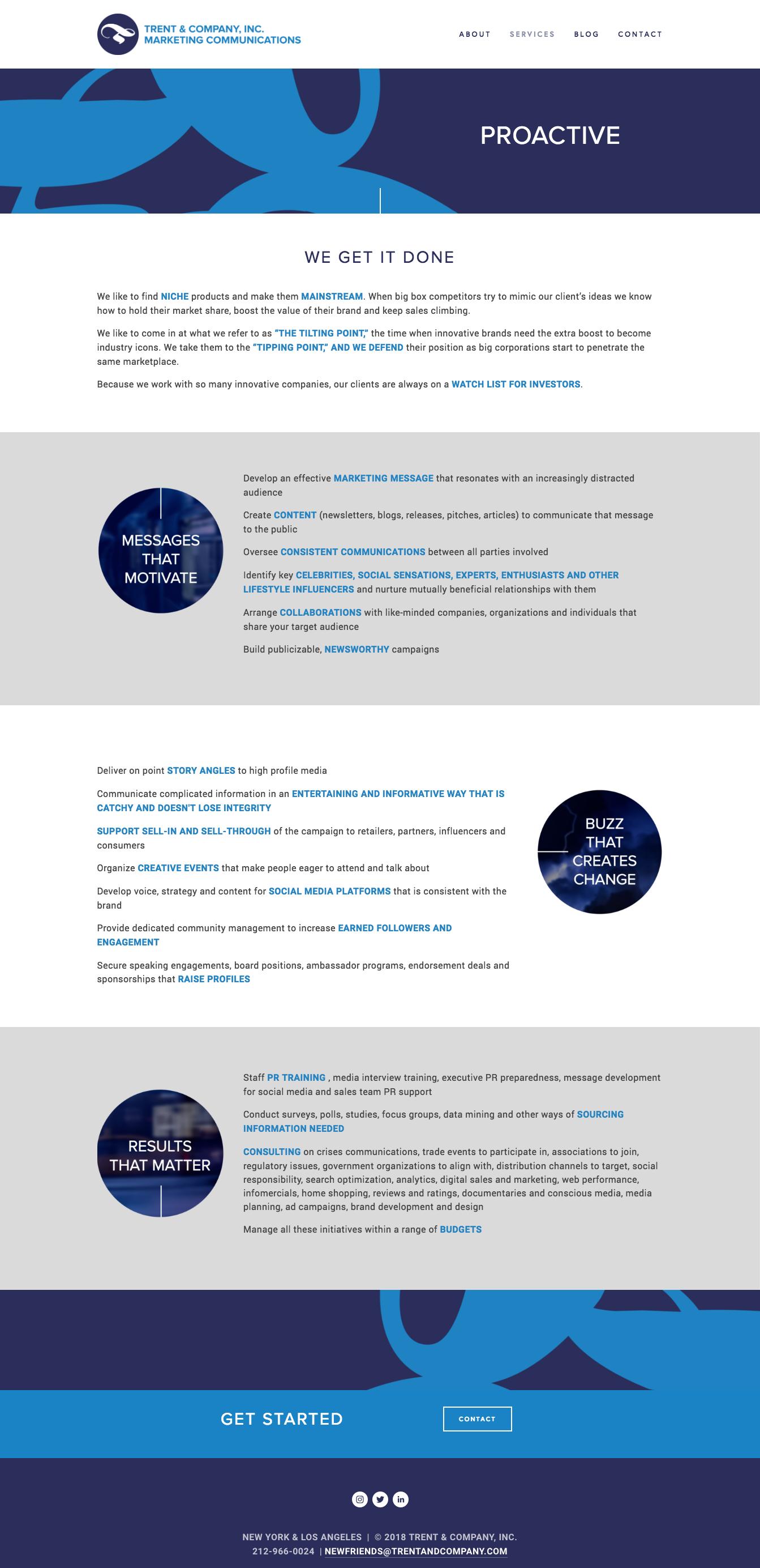 Bold & Pop : NYC Public Relations & Marketing Agency Squarespace Website Design