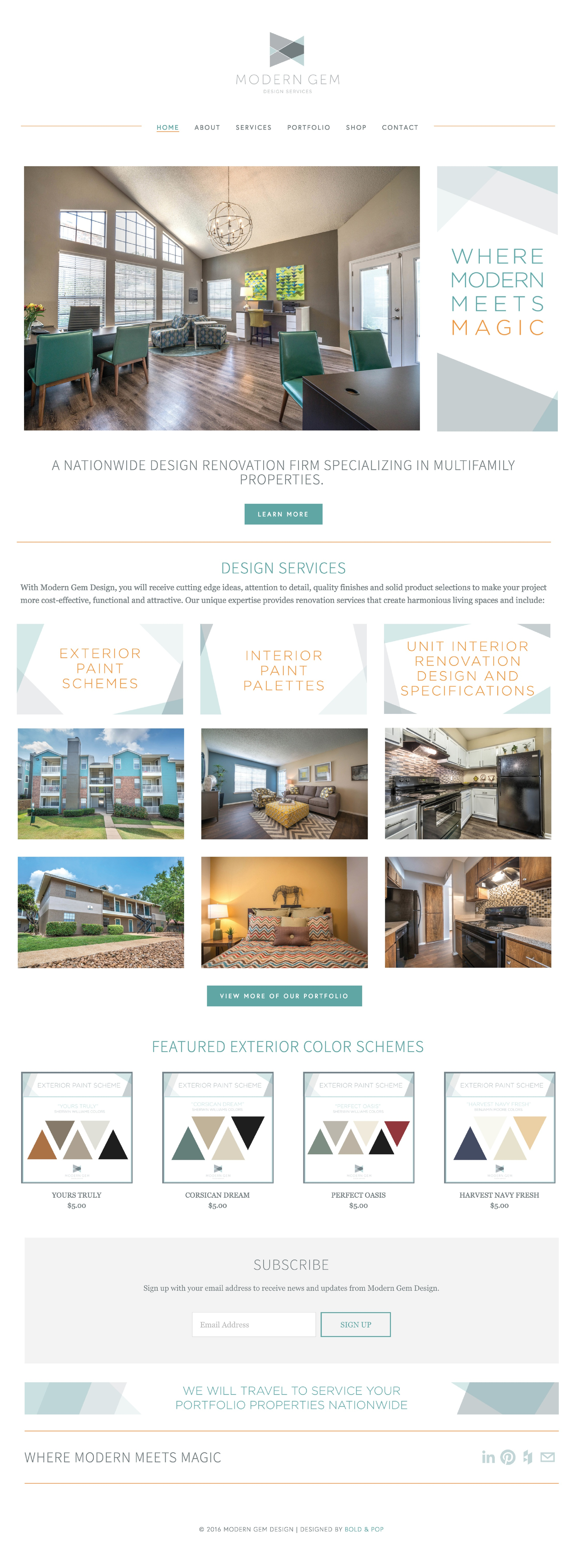 Interior Design Firm Website & Collateral Design