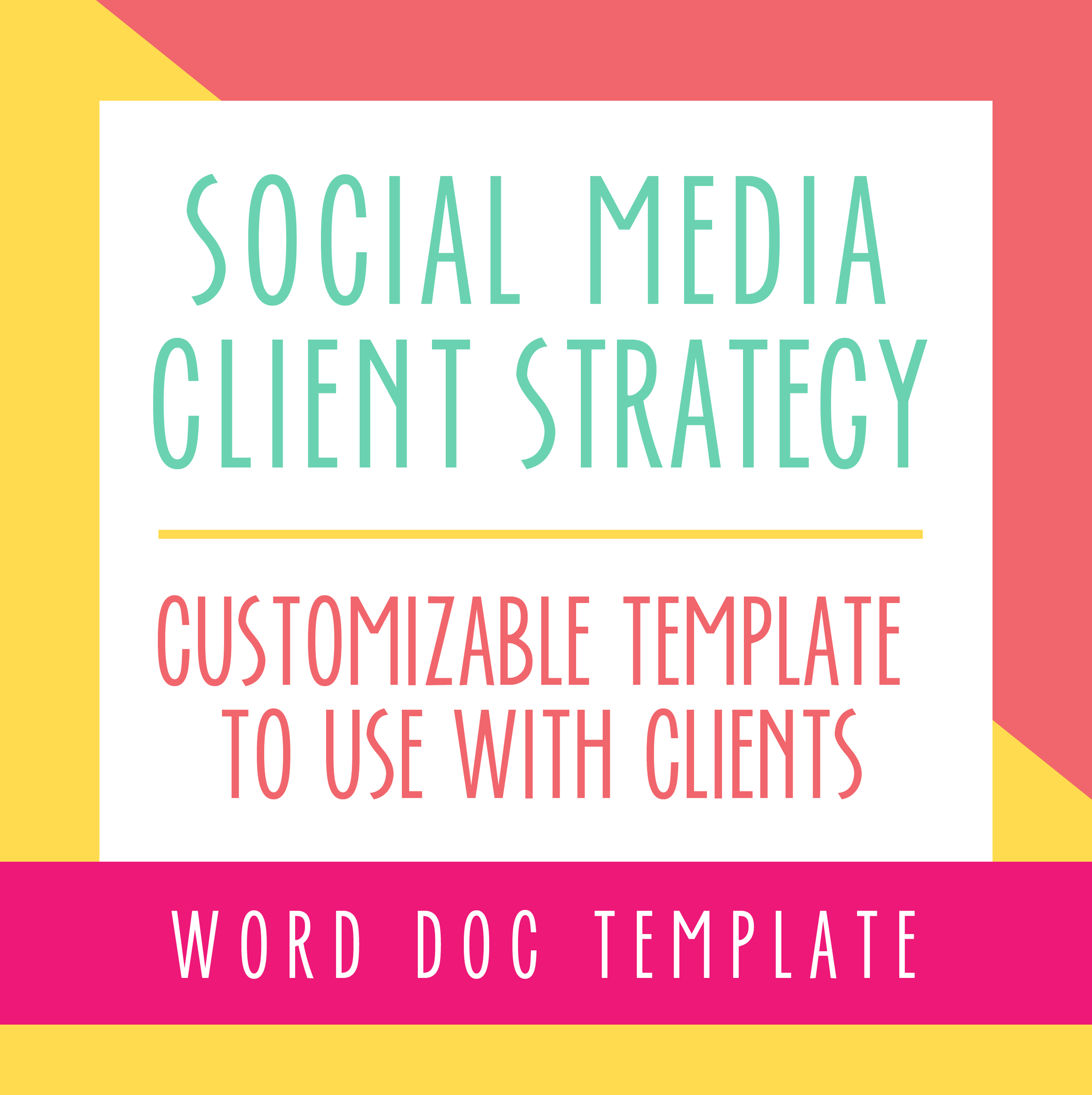 Social Media Strategy Template For Social Media Managers Bold Pop Social Media Branding And Squarespace Website Design
