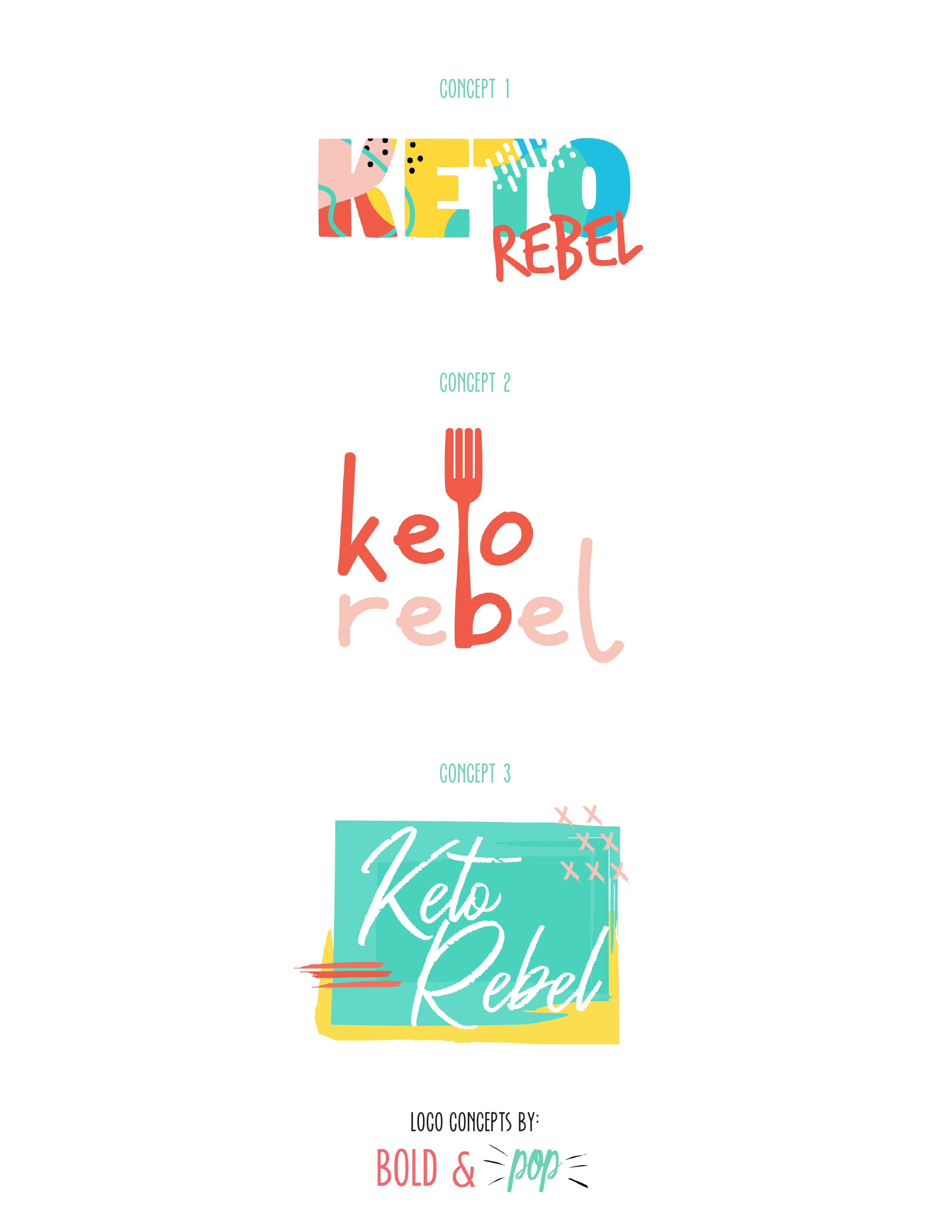 Bold & Pop : Keto Rebel Foot and Health Blogger and Influencer Branding Design