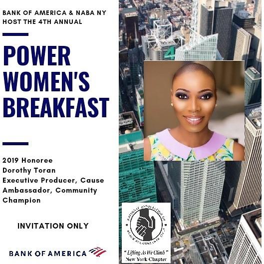 2019 Women's Power Breakfast, hosted by bank of america