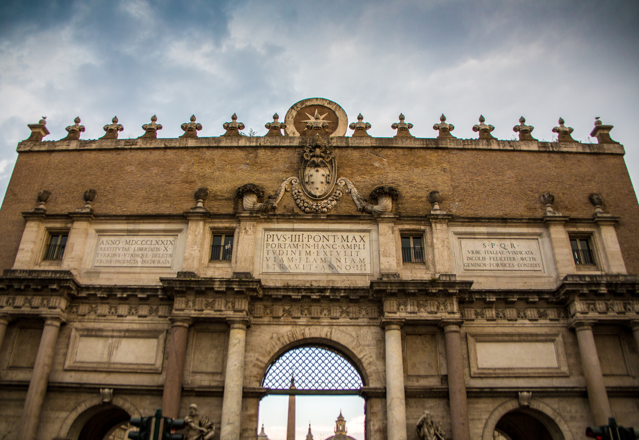 Entrance to Piazza Del Popolo
