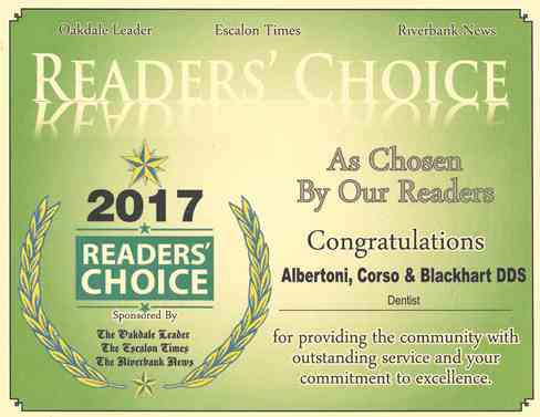 Oakdale Leader Reader's Choice Award 2017.jpg