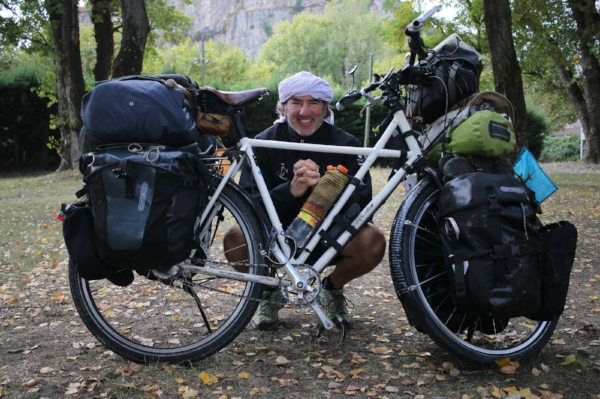 Alvaro Neil has been travelling the world by bike for over 5 years. He uses Power Grips straps to stay secure on his pedals.  Follow his travels on Facebook!