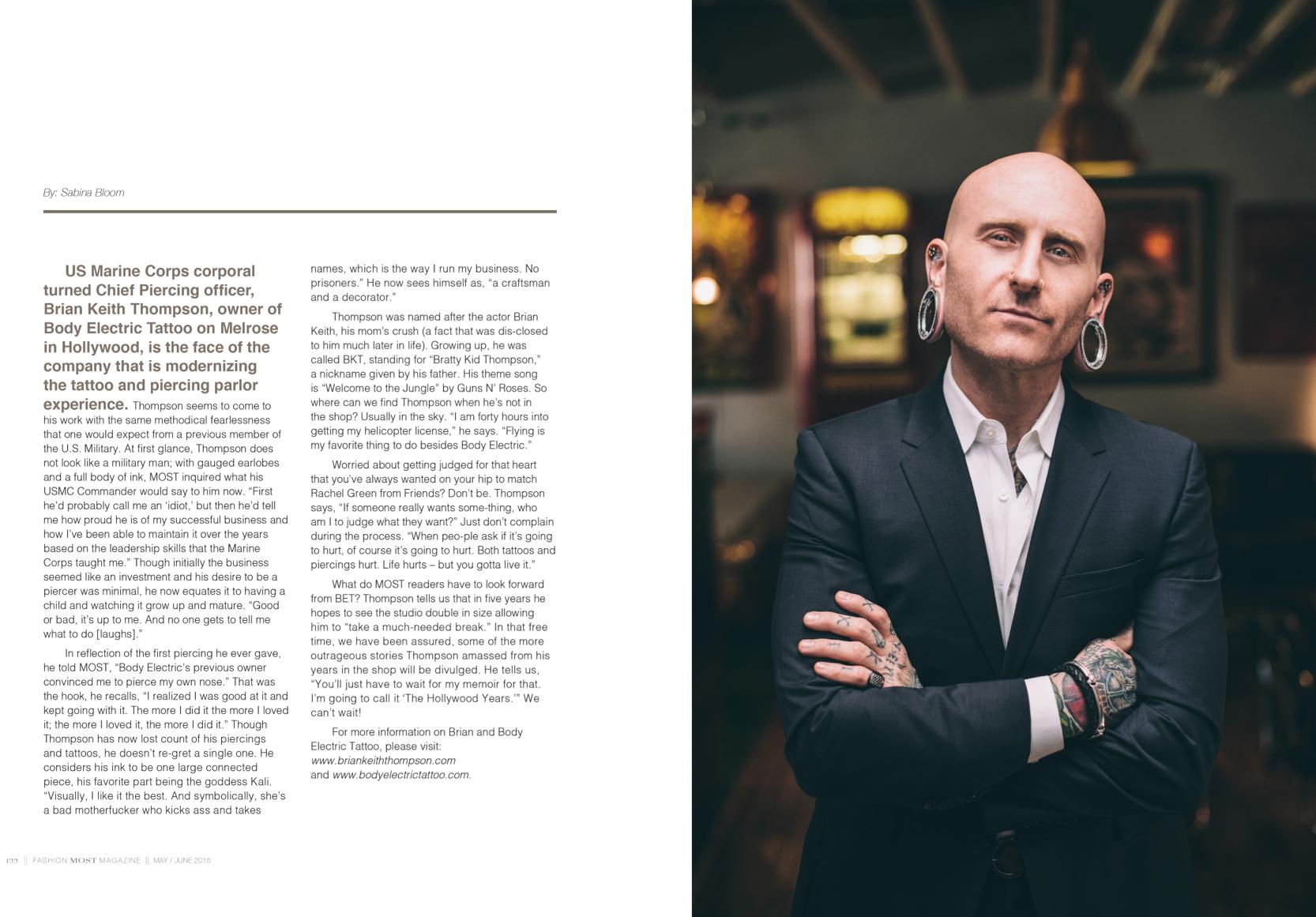 Brian Keith Thompson - Most Magazine 2