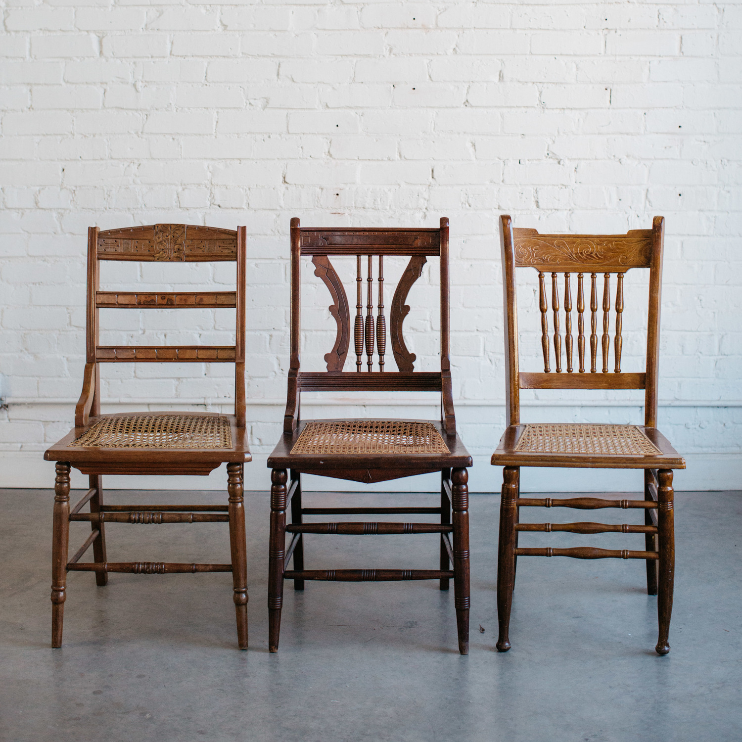 Cane Seat Wood Chairs A Darling Day