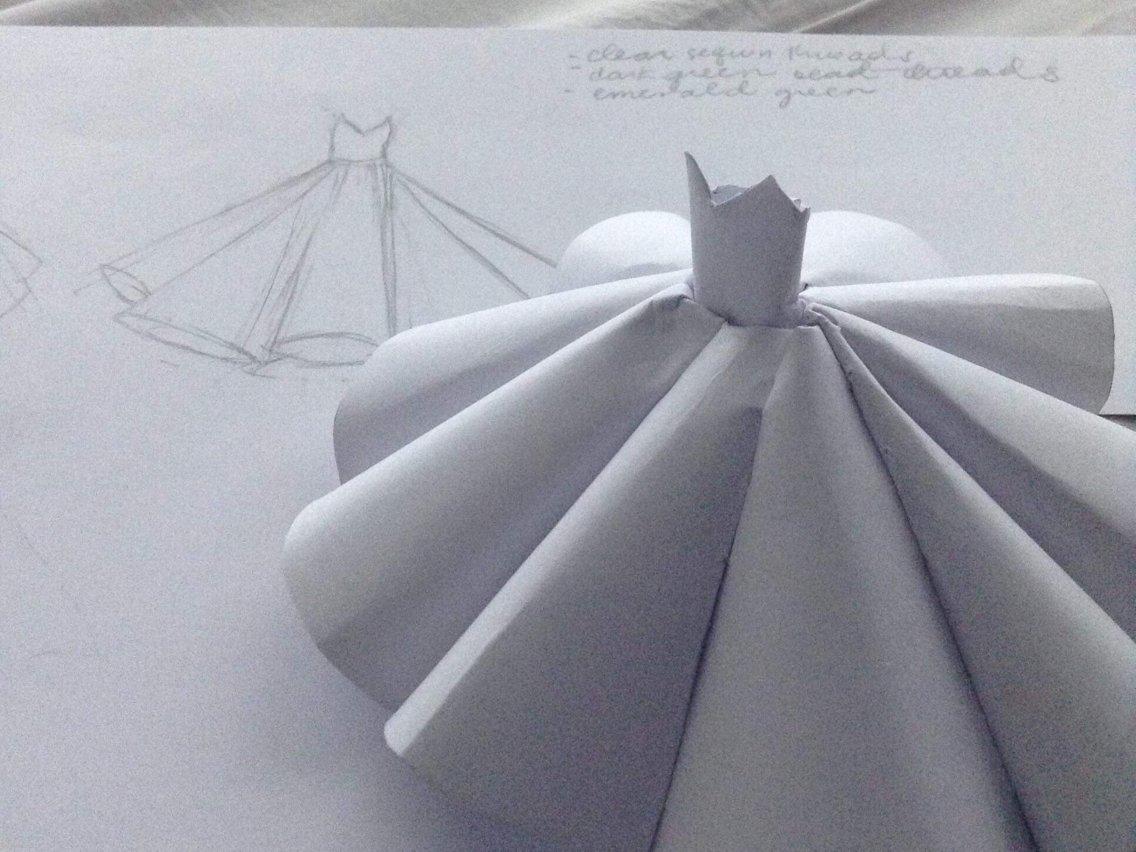 Ciara Gan's ball gown design. Courtesy of Ciara Gan