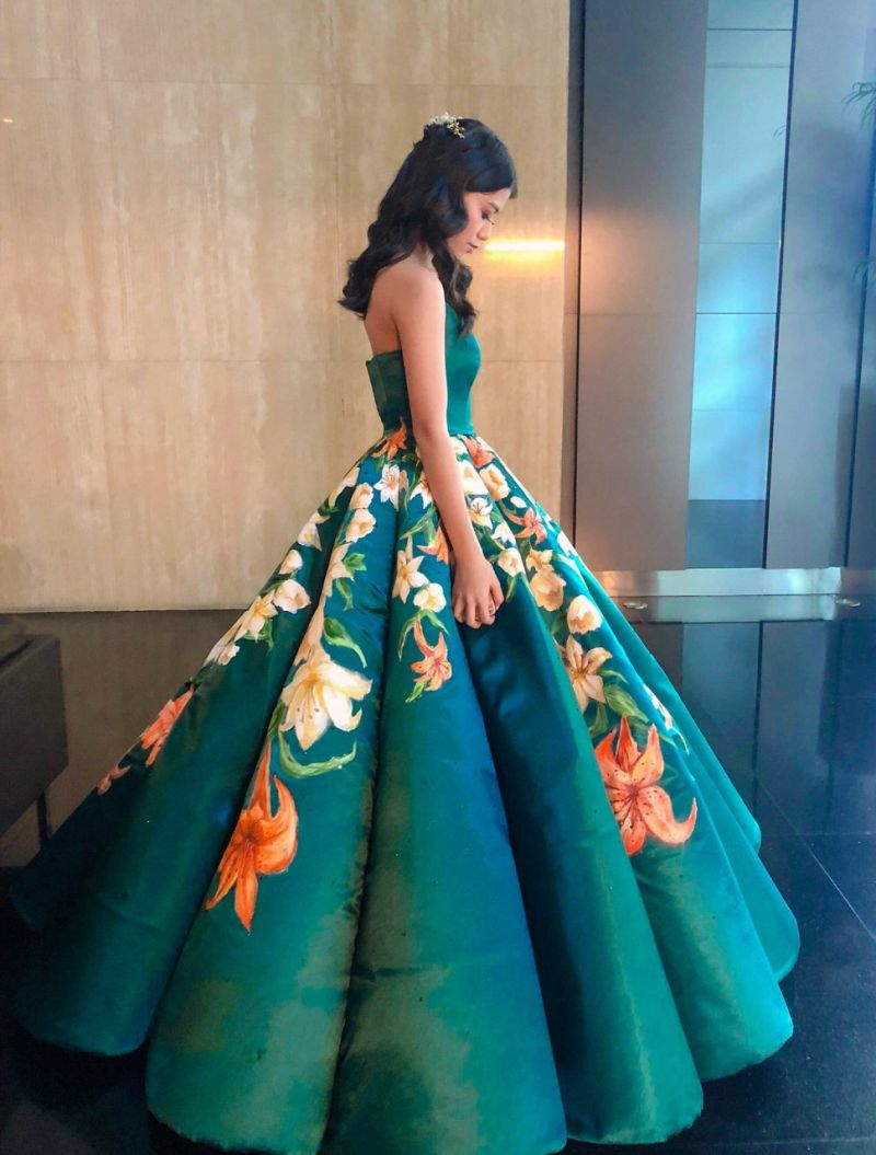 Ciara Gan's ball gown. Courtesy of Ciara Gan