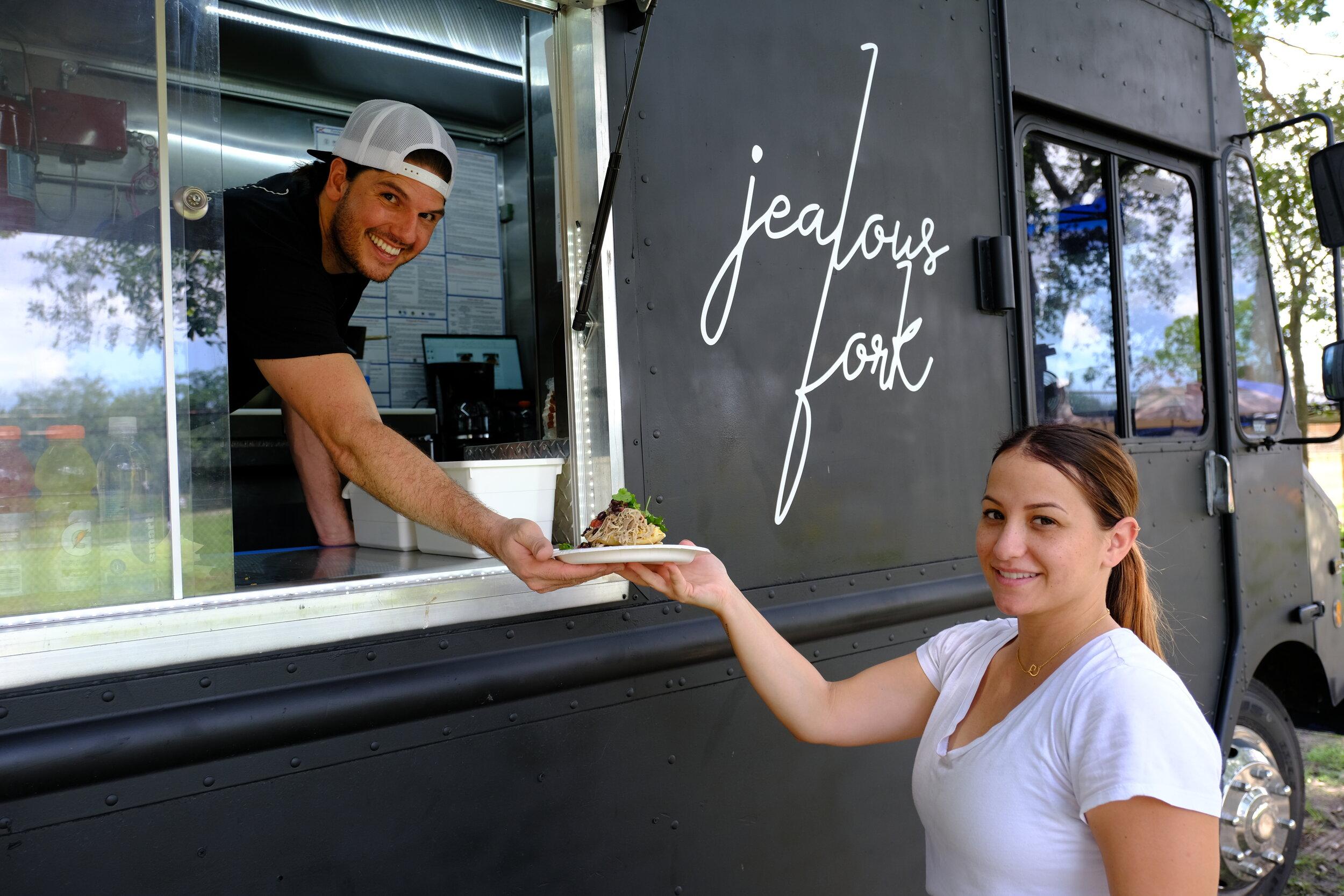 Ortiz serving pancakes.  Photo Courtesy of Joaquin Ortiz